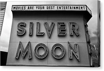 Silver Moon Drive In Canvas Print - Your Best Entertainment by David Lee Thompson