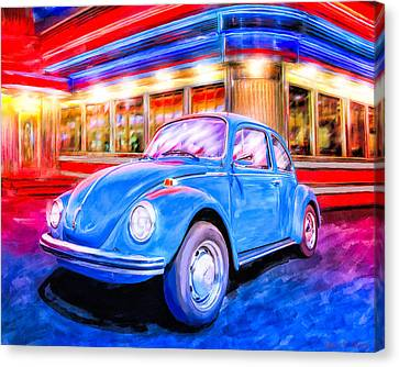 1960 Canvas Print - Your Chariot Awaits - Classic Vw Beetle by Mark Tisdale