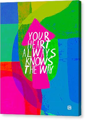 Canvas Print featuring the painting Your Heart Always Knows The Way by Lisa Weedn