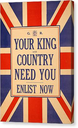 Your King And Country Need You Canvas Print by English School