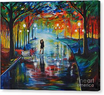Your Love Canvas Print by Leslie Allen