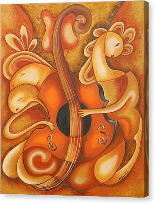 Your Music My Inspiration Canvas Print by Marta Giraldo