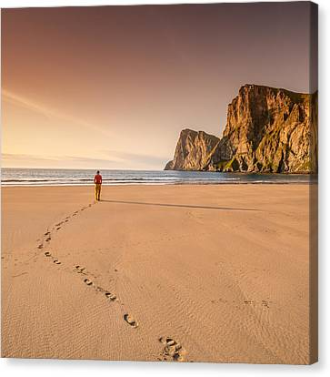Your Own Beach Canvas Print by Alex Conu