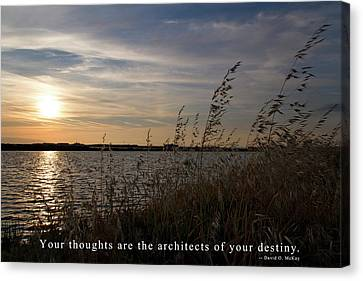 Your Thoughts Are The Architects Of Your Destiny Canvas Print by Rico Besserdich