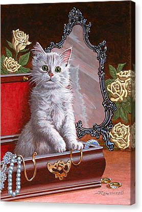Pet Canvas Print - You're Home Early by Richard De Wolfe