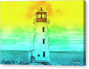 Couple Canvas Print - You're My Beacon Peggy's Cove Lighthouse by Betsy Knapp