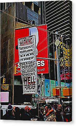 You've Been Warned Canvas Print by Allen Beatty