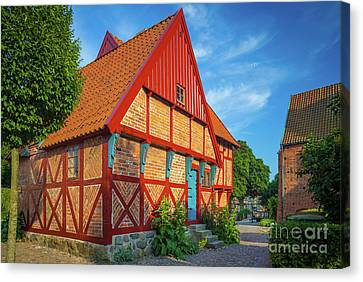 Ystad Old House Canvas Print by Inge Johnsson