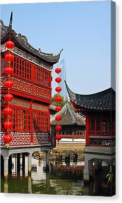 Distinctive Canvas Print - Yu Gardens - A Classic Chinese Garden In Shanghai by Christine Till