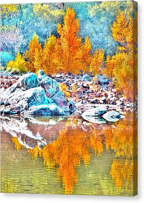 Yuba River Reflection Canvas Print
