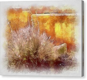 Yucca And Adobe In Aquarelle Canvas Print