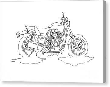 Yucky Yamaha Canvas Print