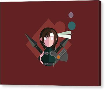 Canvas Print featuring the digital art Yuffie by Michael Myers