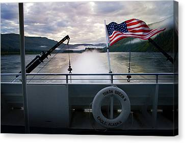Canvas Print featuring the photograph Yukon Queen by Ann Lauwers