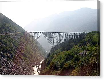Canvas Print featuring the photograph Yukon Railroad Bridge by Jack G  Brauer