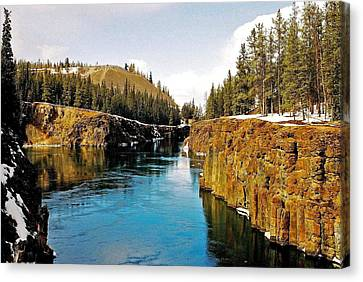 Yukon River And Miles Canyon - Whitehorse Canvas Print by Juergen Weiss