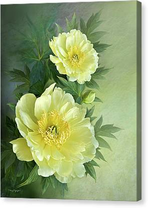 Canvas Print featuring the digital art Yumi Itoh Peony by Thanh Thuy Nguyen