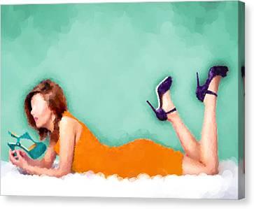 Yvette Canvas Print by Nancy Levan