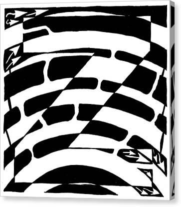 Z Maze Canvas Print by Yonatan Frimer Maze Artist
