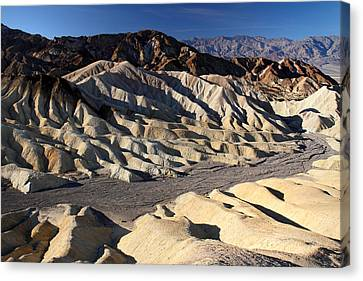 Zabriskie Point In Death Valley Canvas Print by Pierre Leclerc Photography