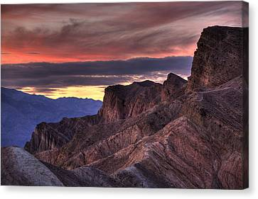 Zabriskie Point Canvas Print by Peter Tellone