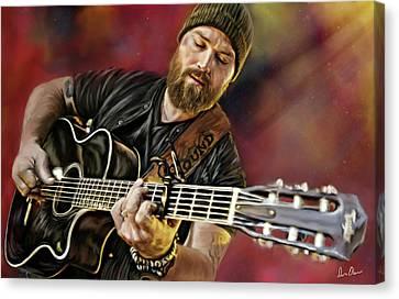 Zac Brown Canvas Print