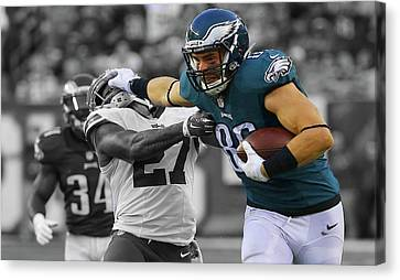 Zach Ertz Eagles Super Bowl Canvas Print