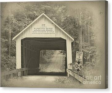 Indiana Landscapes Canvas Print - Zack Cox Bridge by Robert Turner
