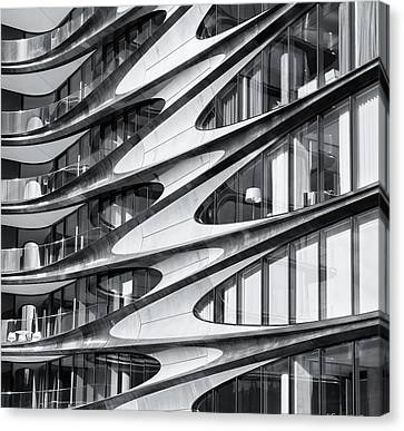 Canvas Print featuring the photograph zaha hadid Architecture in NYC by Michael Hope