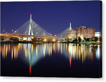 Zakim Aglow Canvas Print by Rick Berk
