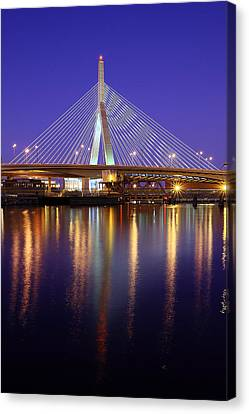 Zakim At Twilight II Canvas Print by Rick Berk