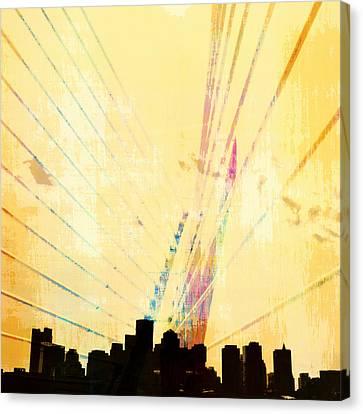 Charles River Canvas Print - Zakim Bridge Boston V3 by Brandi Fitzgerald