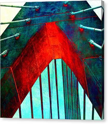 Charles River Canvas Print - Zakim Bridge Boston V5 by Brandi Fitzgerald