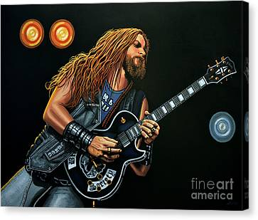 Zakk Wylde Canvas Print by Paul Meijering