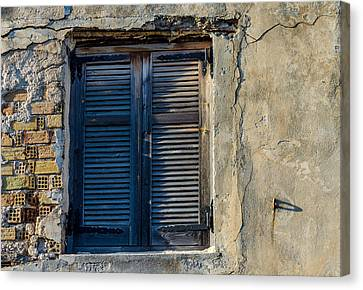 Zakynthos Town Window Canvas Print