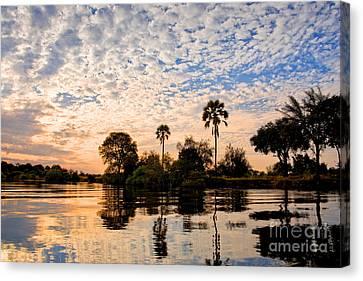 Exoticism Canvas Print - Zambezi Sunset by Delphimages Photo Creations