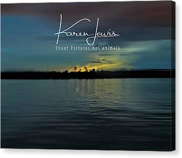 Canvas Print featuring the photograph Zambezi Sunset by Karen Lewis