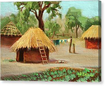 Canvas Print featuring the painting Zambia 1 by Dave Platford