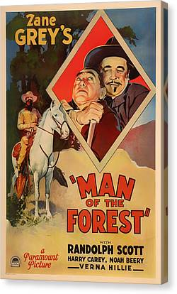Zane Grey's Man Of The Forest 1933 Canvas Print by Mountain Dreams