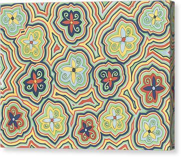 Canvas Print featuring the drawing Zany Garden by Jill Lenzmeier