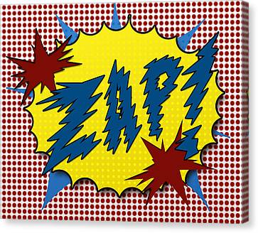 Zap Pop Art Canvas Print by Suzanne Barber