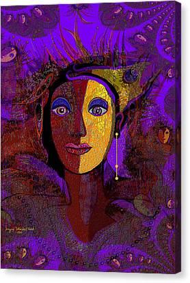 Zarah With Golden Earring  - 194 Canvas Print