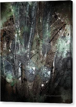 Zauberwald Vollmondnacht Magic Forest Night Of The Full Moon Canvas Print by Mimulux patricia no No