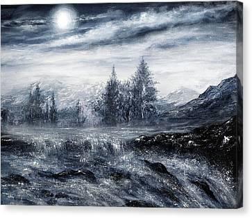 Zealous Waters Canvas Print by Ann Marie Bone