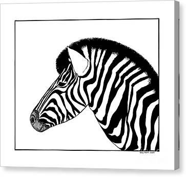 Zebra Canvas Print by Billinda Brandli DeVillez