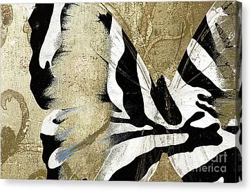 Zebra Butterfly Canvas Print by Mindy Sommers