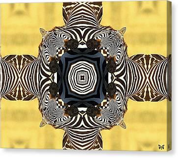 Zebra Cross Canvas Print by Maria Watt