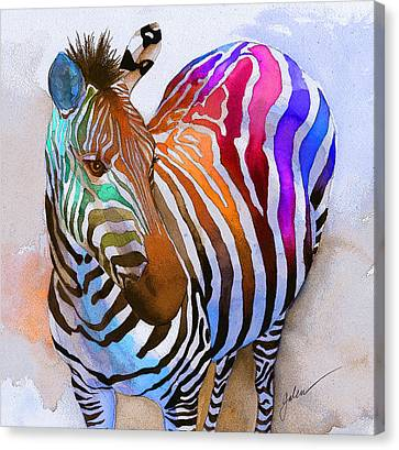 Zebra Dreams Canvas Print by Galen Hazelhofer