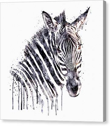 Zebra Canvas Print - Zebra Head by Marian Voicu