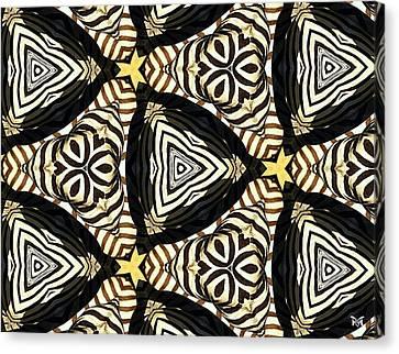 Zebra Iv Canvas Print by Maria Watt